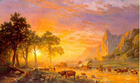 Emigrants Crossing the Plains Albert Bierstadt