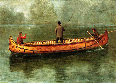 Fishing from a Canoe Albert Bierstadt