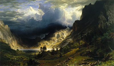 Storm in the Rocky Mountains Albert Bierstadt